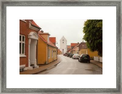 The White Church Saeby Denmark Framed Print