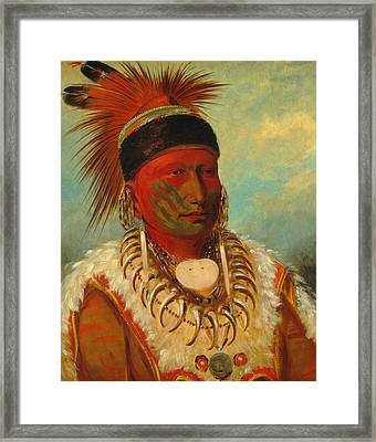 The White Cloud, Head Chief Of The Iowas Framed Print