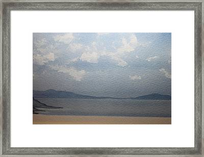 The White Clouds Framed Print