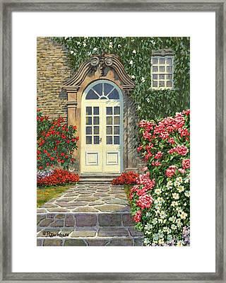 The White Door Framed Print by Richard De Wolfe