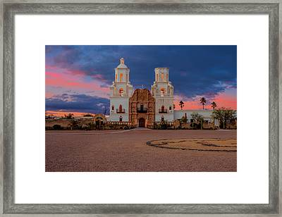 Framed Print featuring the photograph The White Dove Of The Desert by Susan Rissi Tregoning