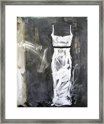 The White Dress - Version 2 Framed Print by Andrea Stajan-Ferkul