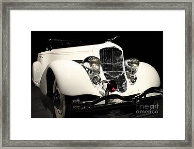 The White Duesenberg Framed Print by Wingsdomain Art and Photography