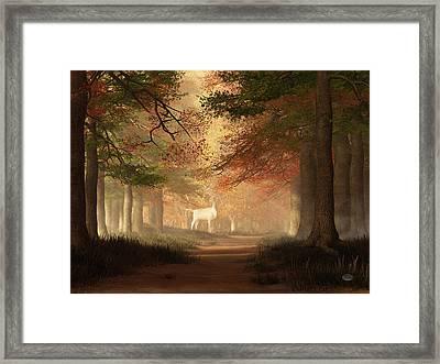 The White Elk Framed Print by Daniel Eskridge
