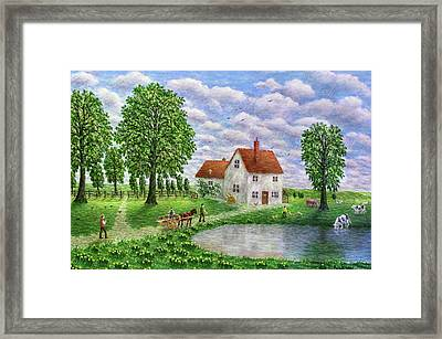 The White Farm - Lake District Framed Print by Ronald Haber