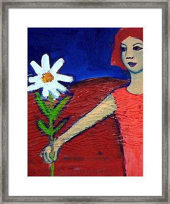 The White Flower Framed Print