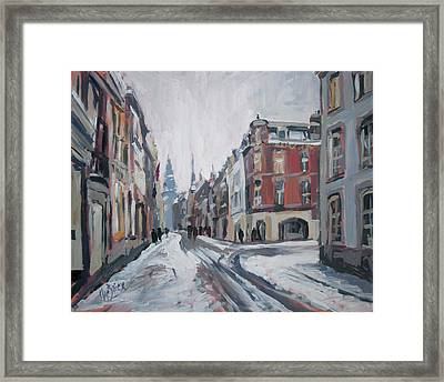 The White Grand Canal Street Maastricht Framed Print by Nop Briex