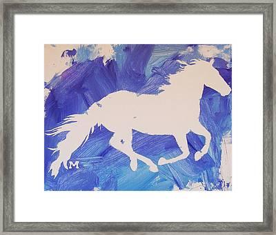 The White Horse Framed Print