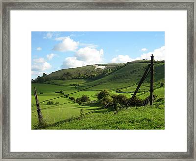 The White Horse Westbury England Framed Print by Kurt Van Wagner