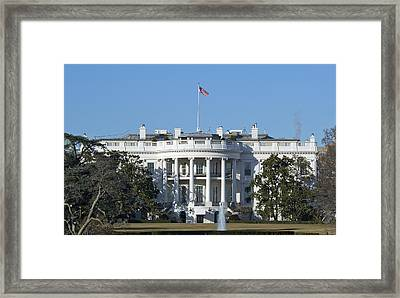 The White House - 1600 Pennsylvania Avenue Washington Dc Framed Print by Brendan Reals