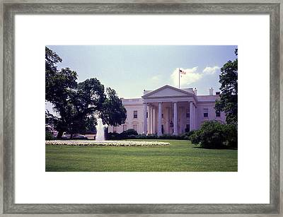 The White House Front Lawn Framed Print by Richard Singleton