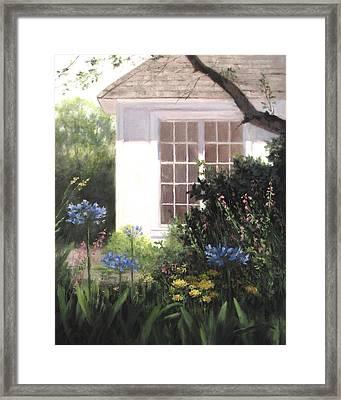 The White House Framed Print by Linda Jacobus