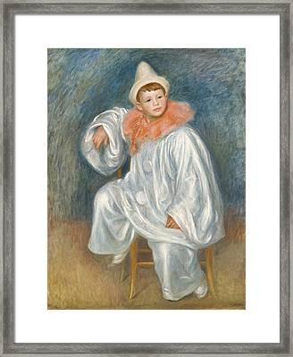 The White Pierrot Framed Print