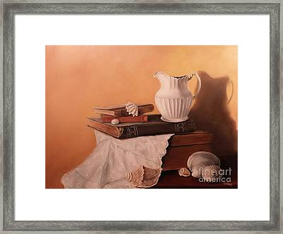 The White Pitcher Framed Print by Patricia Lang