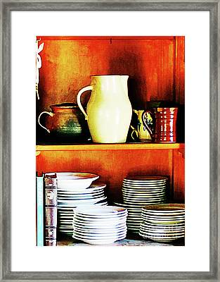 The White Pitcher Framed Print by Steve C Heckman