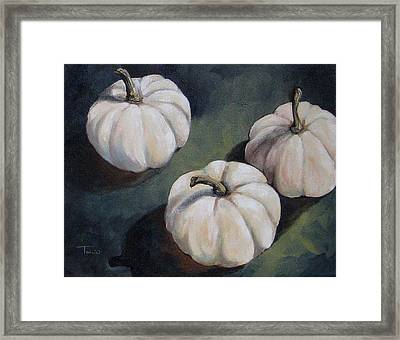 The White Pumpkins Framed Print