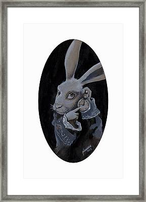 The White Rabbit Framed Print by Luis  Navarro