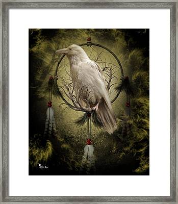 The White Raven Framed Print