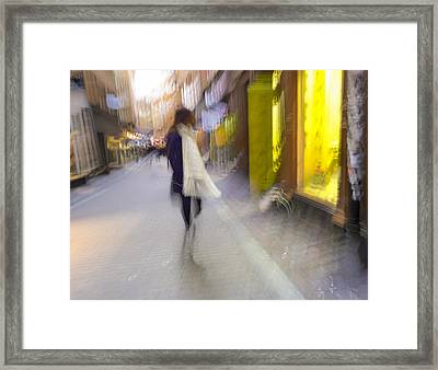 The White Scarf Framed Print