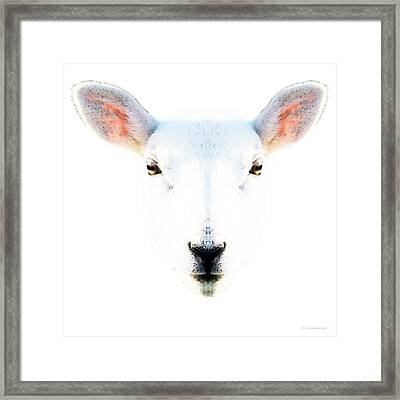 The White Sheep By Sharon Cummings Framed Print