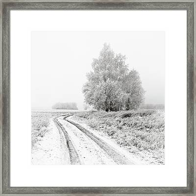 The White Silence. Horytsya, 2014. Framed Print