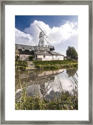 The White Smock Windmill Rye East Sussex Framed Print by John Boud