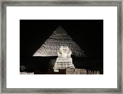 The White Sphynx Framed Print