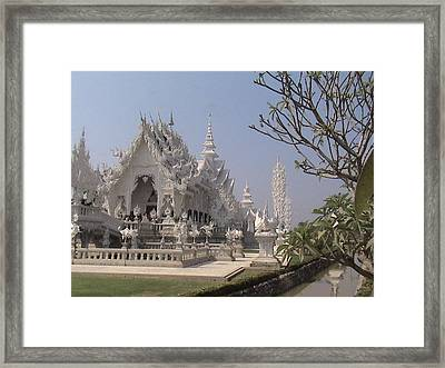 The White Temple Framed Print by William Thomas