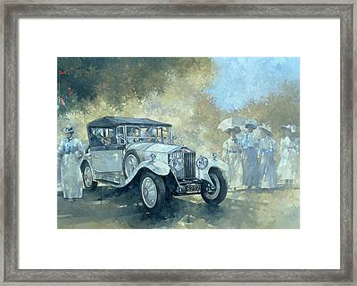 The White Tourer Framed Print