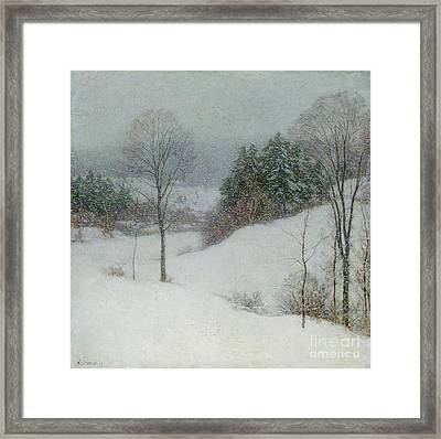 The White Veil Framed Print by Willard Leroy Metcalf