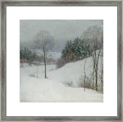 The White Veil Framed Print