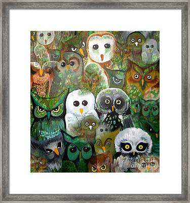 Framed Print featuring the painting The Who by Amy Sorrell