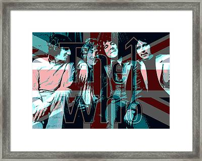 The Who Poster  Framed Print