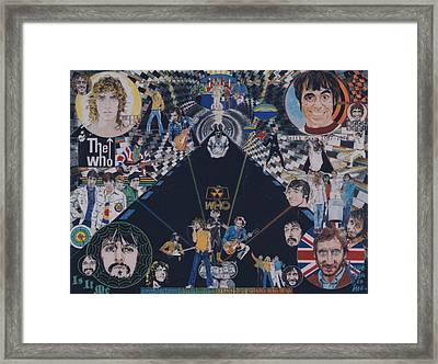 The Who - Quadrophenia Framed Print by Sean Connolly