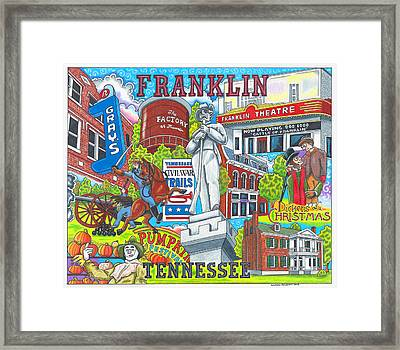 The Who, What And Where Of Franklin, Tennessee Framed Print by Shawn Doughty
