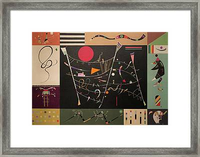 The Whole Framed Print by Wassily Kandinsky