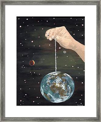 The Whole World  Framed Print by Bryana  Johnson