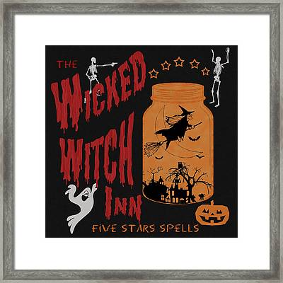 The Wicked Witch Inn Framed Print by Georgeta Blanaru
