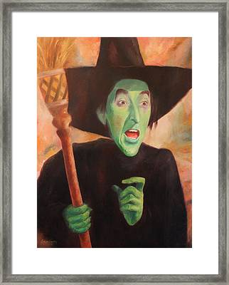 The Wicked Witch Of The West Framed Print by Caleb Thomas