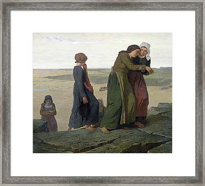 The Widow Framed Print by Evariste Vital Luminais