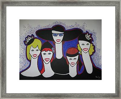 The Widow Ladies Framed Print