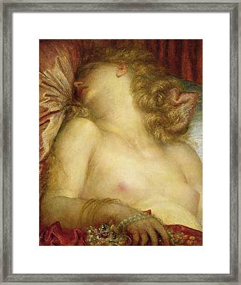 The Wife Of Plutus Framed Print by George Frederic Watts