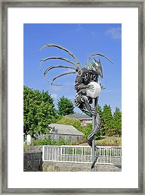 The Wight Dragon Framed Print by Rod Johnson
