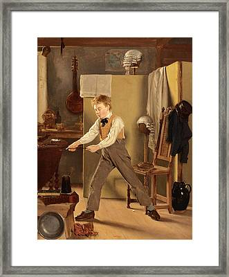The Wigmaker's Apprentice. Practice Makes Perfect Framed Print by Thomas Sword Good