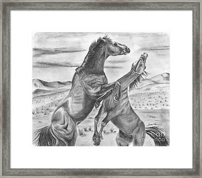 The Wild West Mustangs Framed Print by Russ  Smith