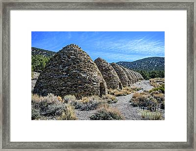 The Wildrose Charcoal Kilns Framed Print by Charles Dobbs