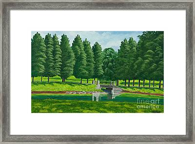 The Willow Path Framed Print by Charlotte Blanchard
