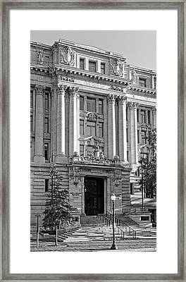 Framed Print featuring the photograph The Wilson Building In Black And White by Greg Mimbs