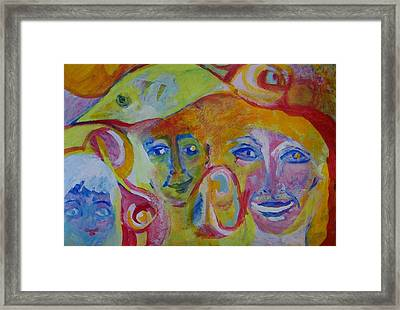 The Wilson Family Loves Their Canary Framed Print by Judith Redman
