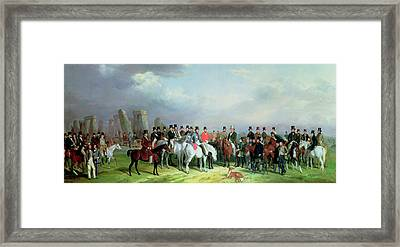 The Wiltshire Great Coursing Meeting Held At Amesbury Framed Print by W Barraud and H Barraud